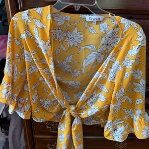 Forever 21 wrap front shirt